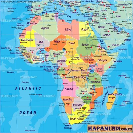 mapamundi.com.es mapa de africa politico